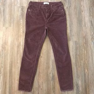 Free People Cords with fray at bottom. Size 29.